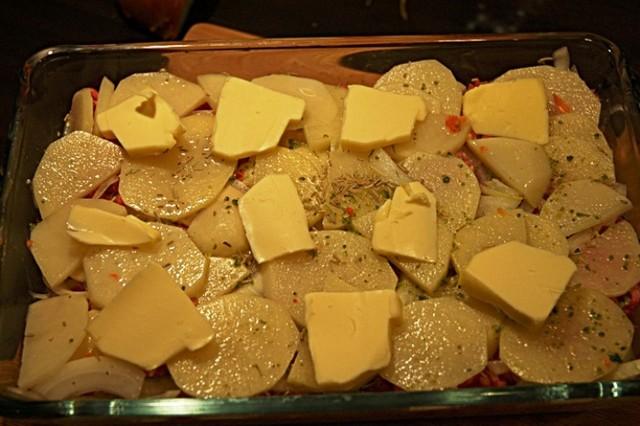 картошка в духовке с фаршем видео