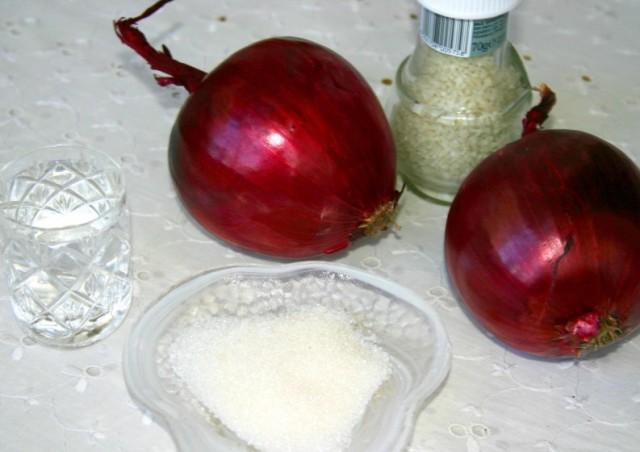 Как уксусом сделать лук