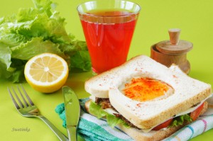 """вкусный бутерброд """"Кабриолет"""""""